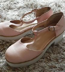 Asos roza sandali z belo platformo