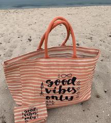 Torba in denarnica za na plažo NOVO