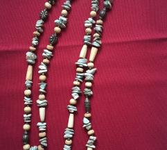 Dolga ogrlica kamenčki