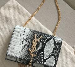YSL torbica s kačjim vzorcem, replika