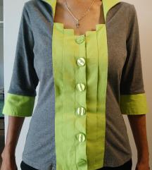 Sivo zelana bluza