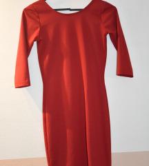 Rdeča oprijeta klasična obleka XS/S