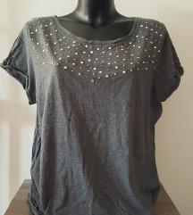 Siva majica s kristali XL