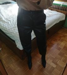 ZARA usnjene hlače - ZNIŽANE