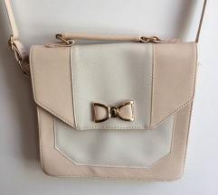 Roza-bela torbica