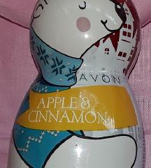 Kopel in gel za prhanje z vonjem jabolka in cimeta