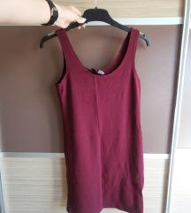 H&m NOVA bordo oprijeta oblekica