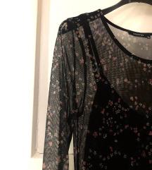 Obleka črna mreža