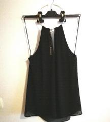 H&M Črna majčka z odprtim hrbtom