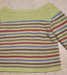 Pleten pulover, XL, prek ramen