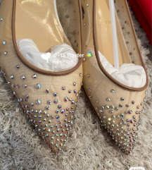 NOVO! Original Louboutin Follies Strass balerinke