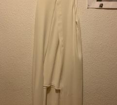 Bela koktalj obleka
