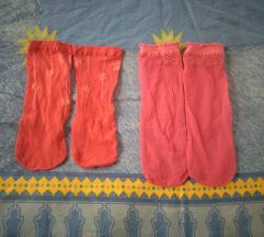 Dvoje najlon roza nogavice