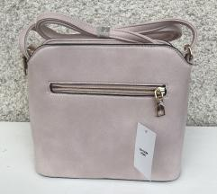 nova modna roza torbica cca. 20x22cm