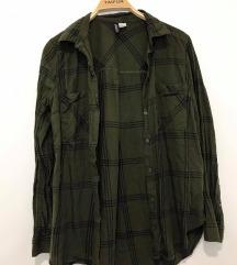 Zeleno črna srajica