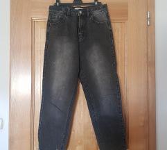 Sive mom jeans, poštnina vključena!