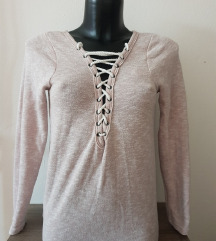 Lace up pulover/tunika S