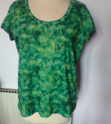 zelena majica poletna z vzorci,L-XL