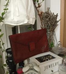 Vintage rjava usnjena torba