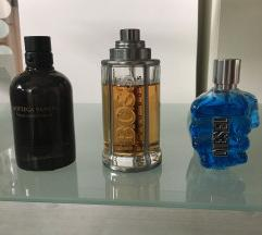 Moški parfumi - tri vrste rabljeni - original