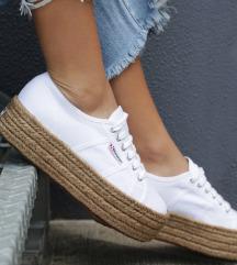 Superga raffia sneakers