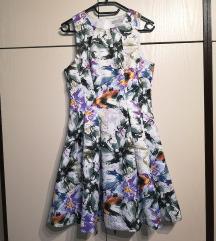 HM obleka z rožami
