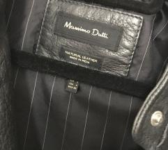Massimo Dutti usnjen brezrokavnik