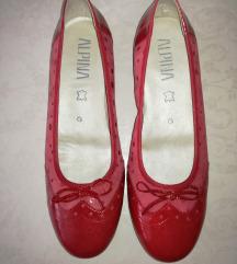 NOVE usnjene rdeče balerinke čevlji salonarji 41