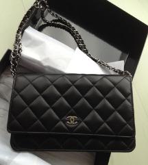 Chanel clutch črna torbica