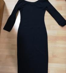 Črna oprijeta obleka - PPT vključen