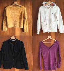 Puloverji, dolge majice in obleke
