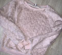 Roza fluffy pulover