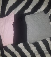 pižame ( nove ) roza, črna in siva