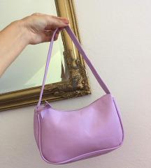 Lila naramna torbica