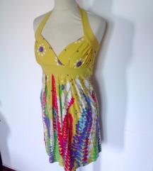 rumena pisana poletna obleka,S