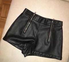 Zara usnjene kratke hlače