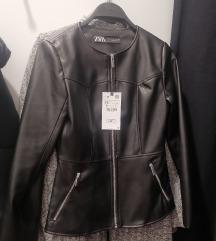 Zara NOVA peplum usnjena jakna