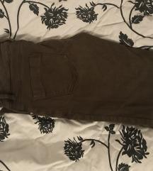 Zeleno-rjave hlače Zara