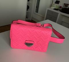 Neon pink waist bag