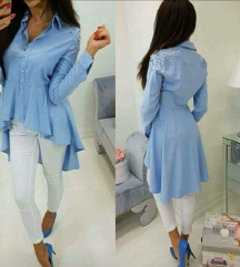 Modra daljša srajca