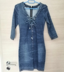 Jeans kratka oblekica