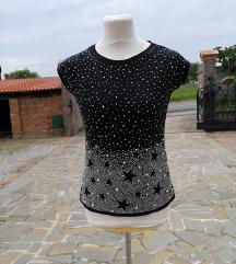 št. 38 / 40 črna majica z kamenčki ( Italija)
