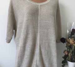 Zlat bleščeč pulover knit