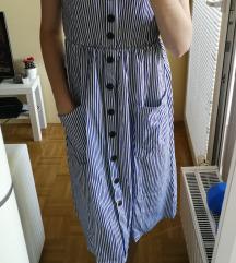 Črtasta poletna oblekca - S