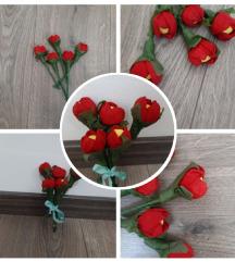 Ročno narejene rožice-šopek