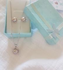 Srebro 925, sladkovodne perle-komplet
