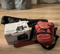 Fotoaparat Canon 550D z opremo