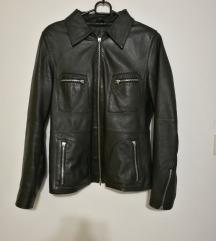 Črna jakna PRAVO USNJE