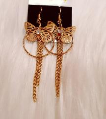 Zlati viseči uhani ❤️