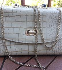 Nova torbica bež barve z vzorcem